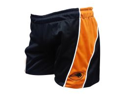 SHORT TRAINING NEGRO NARANJA