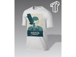 REMERA PERSONALIZADA STRANGER THINGS WITHE