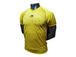 REMERA RUNNING FAST GOLD